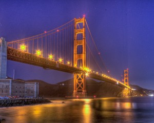 Golden Gate Bridge and Fort Point from Crissy Field